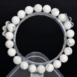 "Shop Howlite Bracelets! 8mm Howlite Beads Bracelet Grade Aaa Genuine Natural Round Gemstone 7"" Bulk Lot 1, 3, 5, 10 And 50 (106636h-2023) 