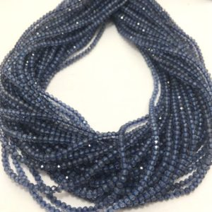 Shop Iolite Faceted Beads! On Sale 2 -2.5 Mm Iolite Micro Faceted Rondelle Gemstone Beads Strand / Faceted Rondelles Beads / Iolite Beaded Strand Wholesale / | Natural genuine faceted Iolite beads for beading and jewelry making.  #jewelry #beads #beadedjewelry #diyjewelry #jewelrymaking #beadstore #beading #affiliate #ad