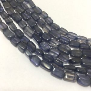 Shop Iolite Bead Shapes! Natural Iolite Plain Rectangle Beads. 4x6mm to 5x7mm, 13 inches, Purple Beads, Gemstone Beads, Semiprecious Stone Beads | Natural genuine other-shape Iolite beads for beading and jewelry making.  #jewelry #beads #beadedjewelry #diyjewelry #jewelrymaking #beadstore #beading #affiliate #ad