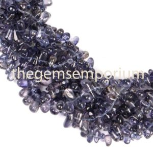 Shop Iolite Bead Shapes! Iolite Plain Smooth drops shape Gemstone Beads, iolite Plain Smooth Side drill Gemstone Beads, Iolite Plain drops shape Beads | Natural genuine other-shape Iolite beads for beading and jewelry making.  #jewelry #beads #beadedjewelry #diyjewelry #jewelrymaking #beadstore #beading #affiliate #ad