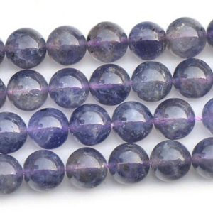 Natural Iolite Smooth and Round Beads,6mm/8mm/10mm/12mm Natural Iolite Beads Bulk Supply,15 inches one starand | Natural genuine round Iolite beads for beading and jewelry making.  #jewelry #beads #beadedjewelry #diyjewelry #jewelrymaking #beadstore #beading #affiliate #ad