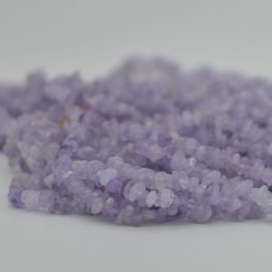 "Shop Jade Chip & Nugget Beads! High Quality Grade A Natural Mauve Jade Semi-precious Gemstone Chips Nuggets Beads – 5mm – 8mm, approx 16"" Strand 