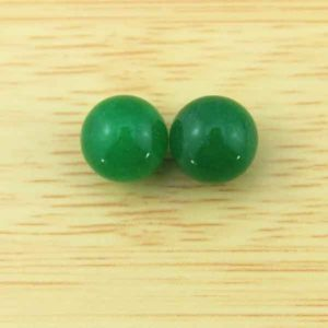 Shop Jade Earrings! 8mm Round Green Jade Beads,Loose Round Jade Beads,Half Hole Beads,Green jade Earring Beads,Jade  For Earrings or Rings- 1 Pair Beads -JB011 | Natural genuine Jade earrings. Buy crystal jewelry, handmade handcrafted artisan jewelry for women.  Unique handmade gift ideas. #jewelry #beadedearrings #beadedjewelry #gift #shopping #handmadejewelry #fashion #style #product #earrings #affiliate #ad