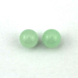 Shop Jade Earrings! 8mm Round Green Jade Beads,Half Drilled Pair For Earrings or Rings,Half Hole jade beads,Loose jade beads, 1 Pair Beads  ER-101 | Natural genuine Jade earrings. Buy crystal jewelry, handmade handcrafted artisan jewelry for women.  Unique handmade gift ideas. #jewelry #beadedearrings #beadedjewelry #gift #shopping #handmadejewelry #fashion #style #product #earrings #affiliate #ad