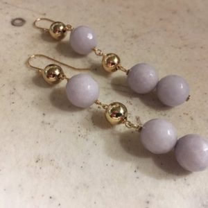 Shop Jade Earrings! Lilac Earrings – Jade Gemstone – Beaded Jewellery – Gold Jewelry – Hispter – Modern | Natural genuine Jade earrings. Buy crystal jewelry, handmade handcrafted artisan jewelry for women.  Unique handmade gift ideas. #jewelry #beadedearrings #beadedjewelry #gift #shopping #handmadejewelry #fashion #style #product #earrings #affiliate #ad