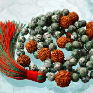 Shop Jade Necklaces! Green Jade, Rudraksh Mala, Hand Knotted Beads, Necklace – Nirvana, Meditation Mala, 8mm, 108 Prayer Beads, For Awakening Chakrachristmas | Natural genuine Jade necklaces. Buy crystal jewelry, handmade handcrafted artisan jewelry for women.  Unique handmade gift ideas. #jewelry #beadednecklaces #beadedjewelry #gift #shopping #handmadejewelry #fashion #style #product #necklaces #affiliate #ad