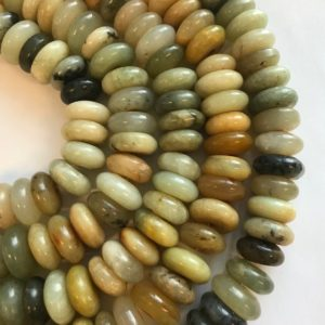 "Shop Jade Rondelle Beads! Antique Jade 18x7mm Rondelle Natural Gemstone Beads–15.5""– 