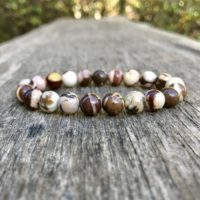 Zebra Jasper Bracelet Handmade 8mm Australian Zebra Jasper Beaded Gemstone Bracelet Stack Bracelet Unisex Bracelet Gift Bracelet | Natural genuine Gemstone jewelry. Buy crystal jewelry, handmade handcrafted artisan jewelry for women.  Unique handmade gift ideas. #jewelry #beadedjewelry #beadedjewelry #gift #shopping #handmadejewelry #fashion #style #product #jewelry #affiliate #ad