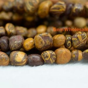 "Shop Jasper Chip & Nugget Beads! 15.5"" 3~5mm Natural Elephant skin jasper pebbles beads, small Elephant skin jasper pebbles, Elephant skin potato beads, small nugget beads 