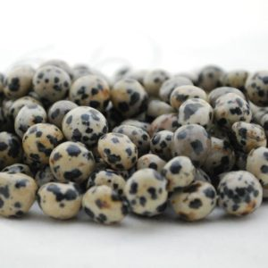 "Shop Jasper Chip & Nugget Beads! High Quality Grade A Natural Dalmatian Jasper Semi-precious Gemstone Pebble Tumbled Stone Nugget Beads – Approx 7mm-10mm – 15"" Strand 