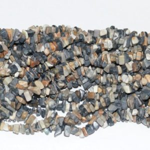 "Shop Jasper Chip & Nugget Beads! Picasso Jasper Chips Gemstone Bead – 34"" Strand 