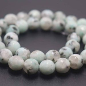 Shop Jasper Faceted Beads! 128 Faceted Green Sesame Jasper  Round Beads,6mm/8mm/10mm/12mm Gemstone Beads Supply,15 inches one starand | Natural genuine faceted Jasper beads for beading and jewelry making.  #jewelry #beads #beadedjewelry #diyjewelry #jewelrymaking #beadstore #beading #affiliate #ad