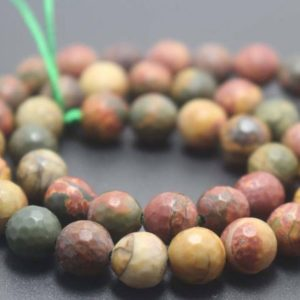 Shop Jasper Faceted Beads! 128 Faceted Picasso Jasper Beads,6mm/8mm/10mm/12mm Faceted Round Beads Supply,15 inches one starand | Natural genuine faceted Jasper beads for beading and jewelry making.  #jewelry #beads #beadedjewelry #diyjewelry #jewelrymaking #beadstore #beading #affiliate #ad