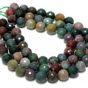 "Shop Jasper Faceted Beads! Round faceted beads,jasper beads,fancy jasper stones,unique beads,colorful beads,sparkling beads,diy beads supplies – 16"" Full Strand 