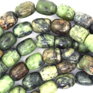 "Shop Jasper Bead Shapes! 10mm green jasper barrel beads 16"" strand 37210 