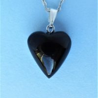 Whitby Jet Love Heart Pendant | Natural genuine Gemstone jewelry. Buy crystal jewelry, handmade handcrafted artisan jewelry for women.  Unique handmade gift ideas. #jewelry #beadedjewelry #beadedjewelry #gift #shopping #handmadejewelry #fashion #style #product #jewelry #affiliate #ad
