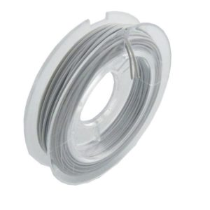 Shop Beading Wire! Jewellery wire 10 m 0.6 mm stainless steel White | Shop jewelry making and beading supplies, tools & findings for DIY jewelry making and crafts. #jewelrymaking #diyjewelry #jewelrycrafts #jewelrysupplies #beading #affiliate #ad