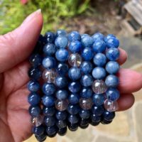 Blue Kyanite And Angel Aura Grounding Bracelet Ws7224 | Natural genuine Gemstone jewelry. Buy crystal jewelry, handmade handcrafted artisan jewelry for women.  Unique handmade gift ideas. #jewelry #beadedjewelry #beadedjewelry #gift #shopping #handmadejewelry #fashion #style #product #jewelry #affiliate #ad