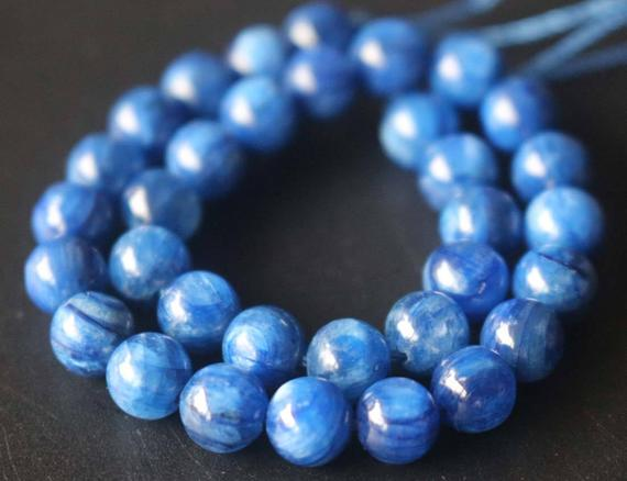 Natural Aa Blue Kyanite Beads,6mm/8mm/10mm/12mm Natural Beads Supply,15 Inches One Starand