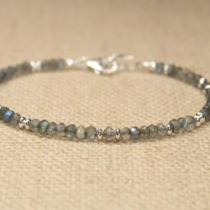Shop Labradorite Bracelets! Labradorite Bracelet, Labradorite Jewelry, Sterling Silver, Blue Flash, Beaded, Layering Bracelet, Gemstone Jewelry | Natural genuine Labradorite bracelets. Buy crystal jewelry, handmade handcrafted artisan jewelry for women.  Unique handmade gift ideas. #jewelry #beadedbracelets #beadedjewelry #gift #shopping #handmadejewelry #fashion #style #product #bracelets #affiliate #ad