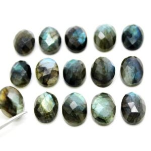 Shop Labradorite Stones & Crystals! Oval Labradorite cabochons,faceted cabochons,semiprecious loose stones,natural labradorite,cabochons wholesale – AA Quality | Natural genuine stones & crystals in various shapes & sizes. Buy raw cut, tumbled, or polished gemstones for making jewelry or crystal healing energy vibration raising reiki stones. #crystals #gemstones #crystalhealing #crystalsandgemstones #energyhealing #affiliate #ad