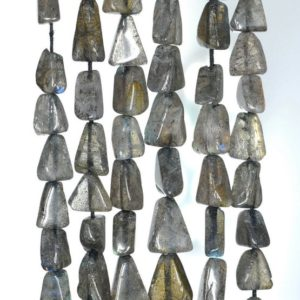 Shop Labradorite Chip & Nugget Beads! 6×5-9x5mm Grey Labradorite Gemstone Triangle Nugget Loose Beads 14-15 inch Full Strand (90184966-898) | Natural genuine chip Labradorite beads for beading and jewelry making.  #jewelry #beads #beadedjewelry #diyjewelry #jewelrymaking #beadstore #beading #affiliate #ad