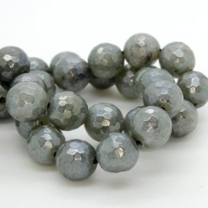 Shop Labradorite Faceted Beads! Gorgeous Mystic Labradorite, High Quality in Faceted Round- 8mm, 10mm, 12mm AAA Quality | Natural genuine faceted Labradorite beads for beading and jewelry making.  #jewelry #beads #beadedjewelry #diyjewelry #jewelrymaking #beadstore #beading #affiliate #ad