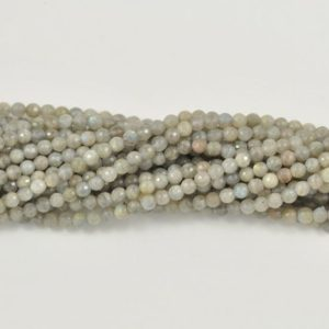 Shop Labradorite Faceted Beads! Natural Labradorite Faceted Round Gemstone Bead-4mm,6mm, 8mm,10mm,12mm, 14mm-15.5 inch strand- | Natural genuine faceted Labradorite beads for beading and jewelry making.  #jewelry #beads #beadedjewelry #diyjewelry #jewelrymaking #beadstore #beading #affiliate #ad