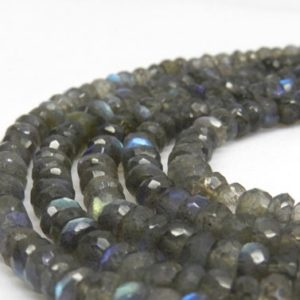 Shop Labradorite Faceted Beads! Labradorite Rondelles, AA Quality Labradorite Beads Faceted Rondelle Beads, Rondelle Beads, Faceted Labradorite Faceted Beads, 6mm beads | Natural genuine faceted Labradorite beads for beading and jewelry making.  #jewelry #beads #beadedjewelry #diyjewelry #jewelrymaking #beadstore #beading #affiliate #ad