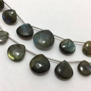 Shop Labradorite Bead Shapes! Natural Labradorite Plain Smooth Heart Drop Loose Gemstone Beads 10mm to 18mm 8 Inches/Labradorite/Heart Drop/Smooth Beads/Grey Beads | Natural genuine other-shape Labradorite beads for beading and jewelry making.  #jewelry #beads #beadedjewelry #diyjewelry #jewelrymaking #beadstore #beading #affiliate #ad