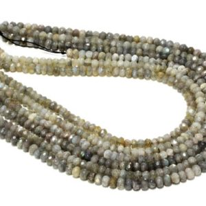 "Shop Labradorite Rondelle Beads! Small rondelle beads,labradorite beads,genuine labradorite beads,diy beads,beading craft supplies,gemstone beads – 16"" Full Strand 
