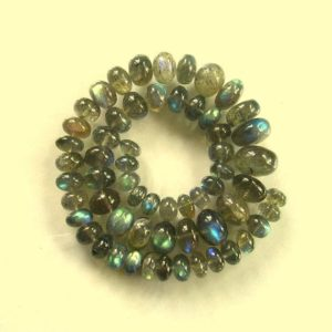 "Shop Labradorite Rondelle Beads! Labradorite smooth rondelle beads AAA 6-12mm 12.5"" strand 