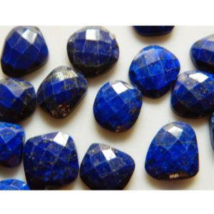 Shop Lapis Lazuli Faceted Beads! 5 Pieces 13mm To 18mm Each Natural Lapis Lazuli Rose Cut Faceted Loose Cabochons – RS12 | Natural genuine faceted Lapis Lazuli beads for beading and jewelry making.  #jewelry #beads #beadedjewelry #diyjewelry #jewelrymaking #beadstore #beading #affiliate #ad