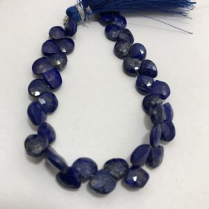 Shop Lapis Lazuli Bead Shapes! Lapis Luzuli Faceted Heart 6.5to7.5mm 8 inches 50 cts /Lapis Luzuli/ Faceted Heart/Gemstone Beads/Semiprecious Beads/Stone Beads/Rare Beads. | Natural genuine other-shape Lapis Lazuli beads for beading and jewelry making.  #jewelry #beads #beadedjewelry #diyjewelry #jewelrymaking #beadstore #beading #affiliate #ad