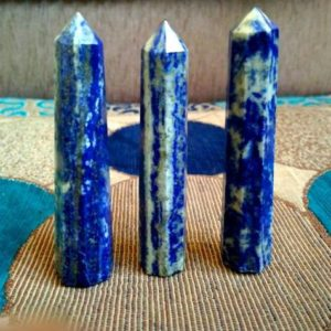 Shop Lapis Lazuli Points & Wands! Large 110MM Natural Black Tourmaline Stone Scholr Stone Metaphysical Meditation Healing Pyramid | Natural genuine stones & crystals in various shapes & sizes. Buy raw cut, tumbled, or polished gemstones for making jewelry or crystal healing energy vibration raising reiki stones. #crystals #gemstones #crystalhealing #crystalsandgemstones #energyhealing #affiliate #ad
