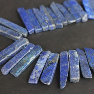 Shop Lapis Lazuli Chip & Nugget Beads! Lapis lazuli raw mineral drusy rock Slabs Slices Dagger gemstone beads 8-11mm  X 30-52mm  ,15 inches full strand | Natural genuine chip Lapis Lazuli beads for beading and jewelry making.  #jewelry #beads #beadedjewelry #diyjewelry #jewelrymaking #beadstore #beading #affiliate #ad