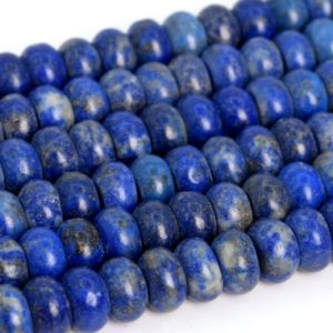 Shop Lapis Lazuli Rondelle Beads! Genuine Natural Matte Lapis Lazuli Loose Beads Grade A Rondelle Shape 6x4mm 8x5mm | Natural genuine rondelle Lapis Lazuli beads for beading and jewelry making.  #jewelry #beads #beadedjewelry #diyjewelry #jewelrymaking #beadstore #beading #affiliate #ad