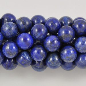 Shop Lapis Lazuli Round Beads! Lapis 6-12mm Round Gemstone Beads – 15.5 Inch Strand | Natural genuine round Lapis Lazuli beads for beading and jewelry making.  #jewelry #beads #beadedjewelry #diyjewelry #jewelrymaking #beadstore #beading #affiliate #ad