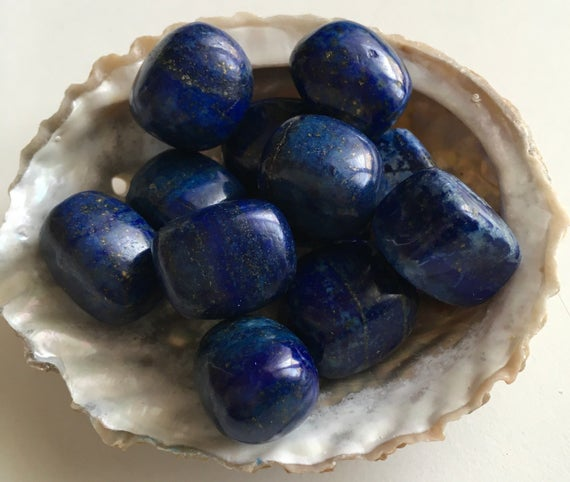 Lapis Lazuli Healing Stone, Harmonizes And Protects, Encourages,small Tumbled, Healing Crystal, Spiritual Stone, Meditation, Tumbled Stone