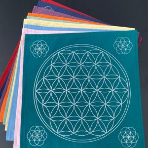 Shop Crystal Healing Charging Plates & Crystal Grid Mats! Large Flower of Life – Crystal Grid Mat – Handmade – Upcycled – Repurposed – Altar Cloth – Mandala Mat | Shop jewelry making and beading supplies, tools & findings for DIY jewelry making and crafts. #jewelrymaking #diyjewelry #jewelrycrafts #jewelrysupplies #beading #affiliate #ad