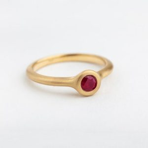 Large Ruby Ring, Simple, Stack Ring, Yellow Rose 18k Gold, Engagement Ring, Wide, Solitaire Ring, Minimalist, Jewelry Gift for Her | Natural genuine Array rings, simple unique alternative gemstone engagement rings. #rings #jewelry #bridal #wedding #jewelryaccessories #engagementrings #weddingideas #affiliate #ad