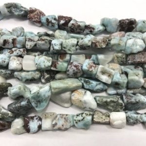 Shop Larimar Chip & Nugget Beads! Natural Blue Larimar 10-15mm Raw Nugget Genuine Gemstone Freeshape Beads 15 inch Jewelry Supply Bracelet Necklace Material Support Wholesale | Natural genuine chip Larimar beads for beading and jewelry making.  #jewelry #beads #beadedjewelry #diyjewelry #jewelrymaking #beadstore #beading #affiliate #ad