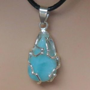 Shop Larimar Necklaces! Larimar Healing Stone Necklace! | Natural genuine Larimar necklaces. Buy crystal jewelry, handmade handcrafted artisan jewelry for women.  Unique handmade gift ideas. #jewelry #beadednecklaces #beadedjewelry #gift #shopping #handmadejewelry #fashion #style #product #necklaces #affiliate #ad