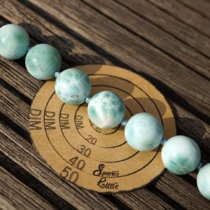 Shop Larimar Round Beads! Larimar round beads 12-12.5mm (ETB00800) Rare/Unique jewelry/Vintage jewelry/Gemstone necklace | Natural genuine round Larimar beads for beading and jewelry making.  #jewelry #beads #beadedjewelry #diyjewelry #jewelrymaking #beadstore #beading #affiliate #ad