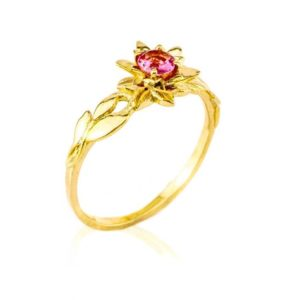 Leaves Engagement Ring, Engagement Ring, 18K Gold and Ruby engagement ring, Leaf engagement ring, leaf ring, antique ring, vintage | Natural genuine Array rings, simple unique alternative gemstone engagement rings. #rings #jewelry #bridal #wedding #jewelryaccessories #engagementrings #weddingideas #affiliate #ad