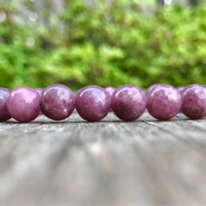 Shop Lepidolite Bracelets! Lepidolite Bracelet 8mm Purple Lavender Lepidolite Beaded Gemstone Bracelet Lavender Violet Mica Bracelet Gift Bracelet Unisex Bracelet | Natural genuine Lepidolite bracelets. Buy crystal jewelry, handmade handcrafted artisan jewelry for women.  Unique handmade gift ideas. #jewelry #beadedbracelets #beadedjewelry #gift #shopping #handmadejewelry #fashion #style #product #bracelets #affiliate #ad