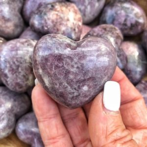One High Quality Lilac Lepidolite Hearts – Crystal Hearts – Sweet Dreams Peace • Tranquility • Restful Sleep-no.137 | Natural genuine stones & crystals in various shapes & sizes. Buy raw cut, tumbled, or polished gemstones for making jewelry or crystal healing energy vibration raising reiki stones. #crystals #gemstones #crystalhealing #crystalsandgemstones #energyhealing #affiliate #ad