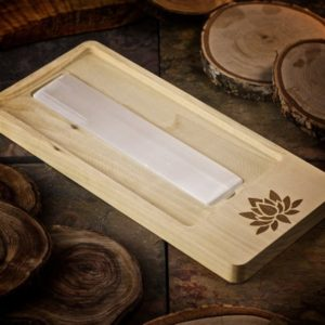 Shop Crystal Healing Charging Plates & Crystal Grid Mats! Lotus Blossom Crystal Charging Tray with Selenite Bar | Selenite Charging Tray | Wood Tray with Selenite | Polished Selenite Charger Plate | Shop jewelry making and beading supplies, tools & findings for DIY jewelry making and crafts. #jewelrymaking #diyjewelry #jewelrycrafts #jewelrysupplies #beading #affiliate #ad