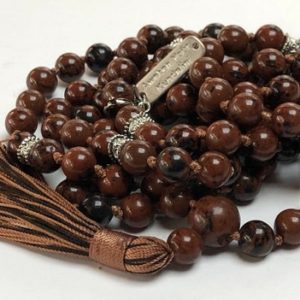 Shop Mahogany Obsidian Pendants! mahogany obsidian knotted mala beads necklace gemstone necklace crystal pendant necklace for men beaded mens burgandy necklace boho black | Natural genuine Mahogany Obsidian pendants. Buy handcrafted artisan men's jewelry, gifts for men.  Unique handmade mens fashion accessories. #jewelry #beadedpendants #beadedjewelry #shopping #gift #handmadejewelry #pendants #affiliate #ad