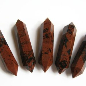 Shop Obsidian Points & Wands! 80mm – 85mm Mahogany Obsidian Double Terminated Point, Mineral Specimen, Large Reiki Meditation Stone, 3.25 inches | Natural genuine stones & crystals in various shapes & sizes. Buy raw cut, tumbled, or polished gemstones for making jewelry or crystal healing energy vibration raising reiki stones. #crystals #gemstones #crystalhealing #crystalsandgemstones #energyhealing #affiliate #ad